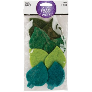 Feltworks Shapes-Leaves 8/Pkg