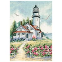 "Gold Collection Petite Scenic Lighthouse Counted Cross Stitch-5""X7"""