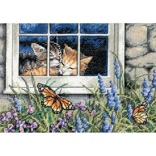 "Gold Collection Petite Feline Love Counted Cross Stitch Kit-7""X5"" 18 Count"
