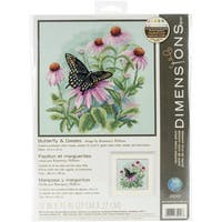 Butterfly & Daisies 11-inch Counted Cross Stitch Kit