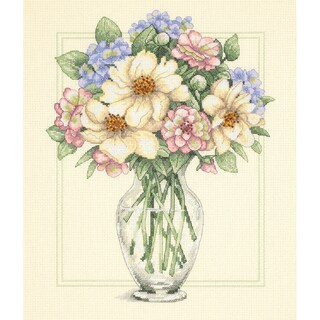 "Flowers In Tall Vase Counted Cross Stitch Kit-12""X14"""
