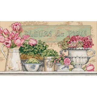 """Flowers Of Paris Counted Cross Stitch Kit-14""""X8"""""""
