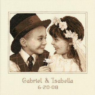 """First Love Wedding Record Counted Cross Stitch Kit-11""""X11"""""""