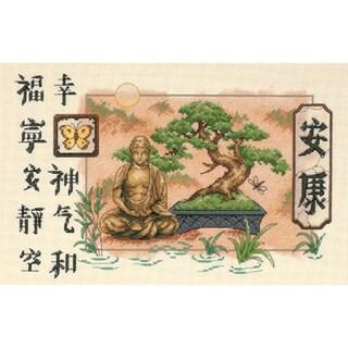 """Bonsai And Buddha Counted Cross Stitch Kit-14""""X9"""""""