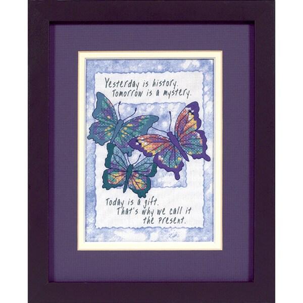 "Jiffy Today Is A Gift Mini Stamped Cross Stitch Kit-5""X7"""