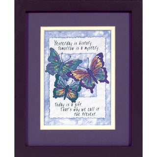 "Jiffy Today Is A Gift Mini Stamped Cross Stitch Kit-5""X7"""