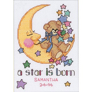 """Jiffy A Star Is Born Mini Counted Cross Stitch Kit-5""""X7"""""""