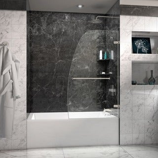 DreamLine Aqua Uno 34-inch Frameless Hinged Tub Door