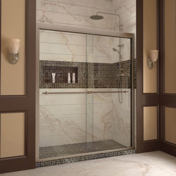 Dreamline Duet 56 60 Inch Frameless Bypass Sliding Shower Door Free Shipping Today