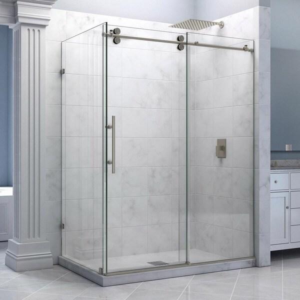 DreamLine Enigma 36 x 60.5-inch Fully Frameless Sliding Shower Enclosure