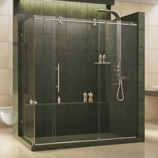 DreamLine Enigma 36 x 72.5 inches Fully Frameless Sliding Shower Enclosure