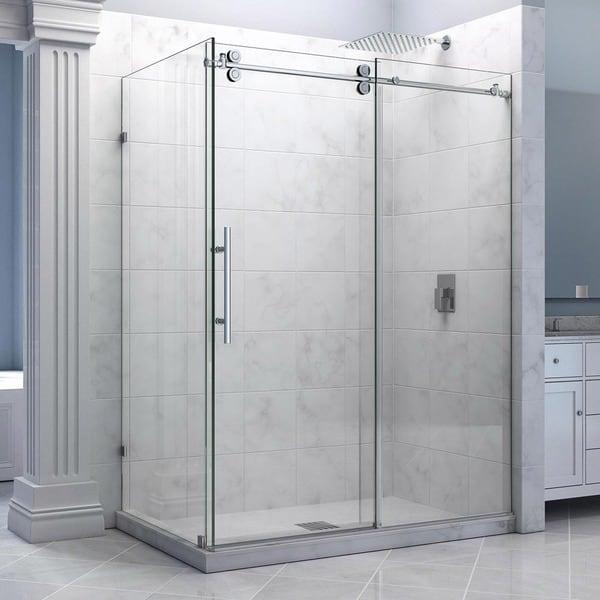 DreamLine Enigma 36 x 60.5 inches Fully Frameless Sliding Shower Enclosure