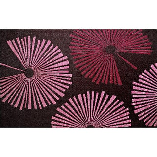 b.b.begonia Fantasia Reversible Design Brown and Red Outdoor Area Rug - 4' x 6'