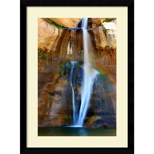 Andy Magee 'Lower Calf Creek Falls' Casual Framed Art Print