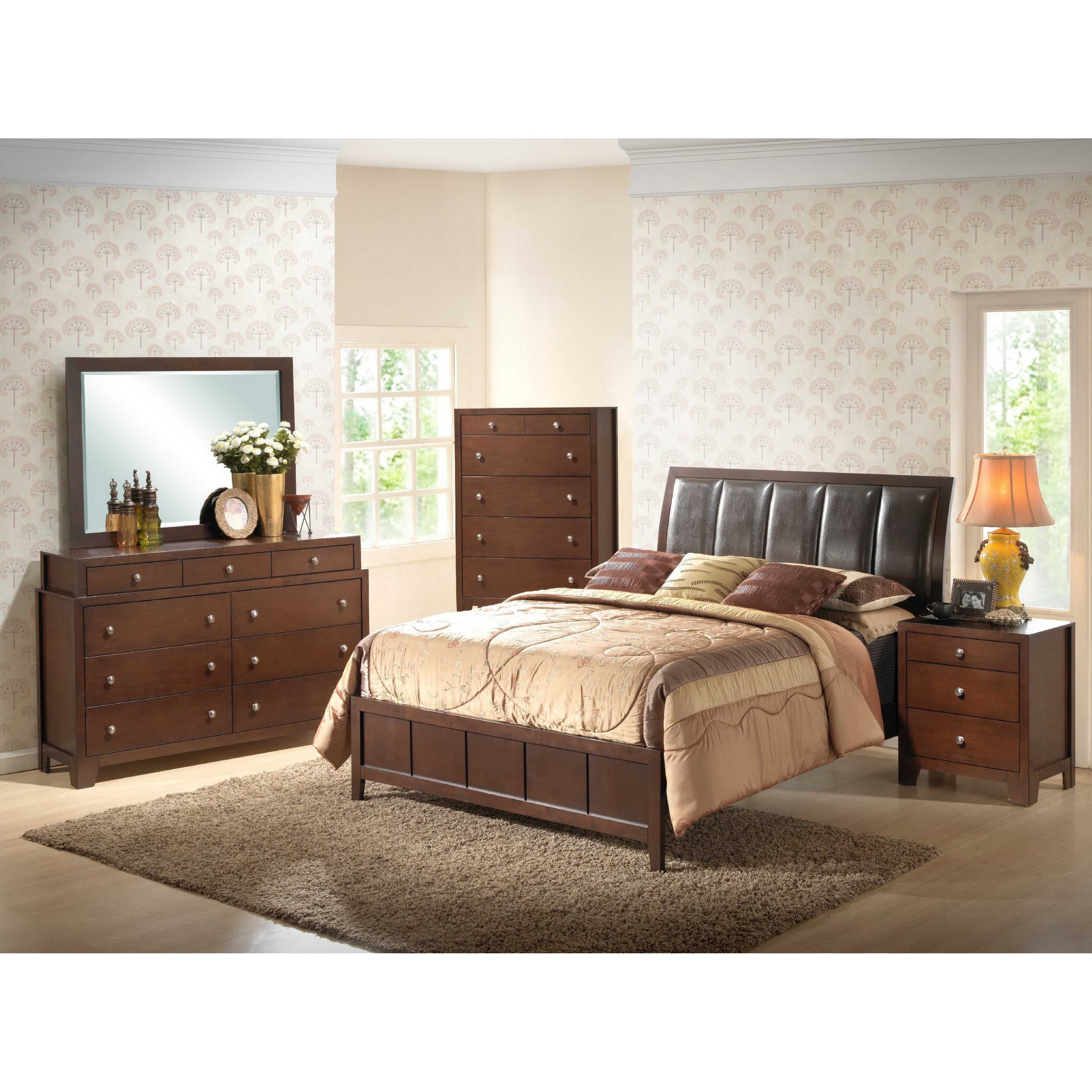 Butler 5 Piece King Size Brown Modern Bedroom Set Free Shipping Today 14298997