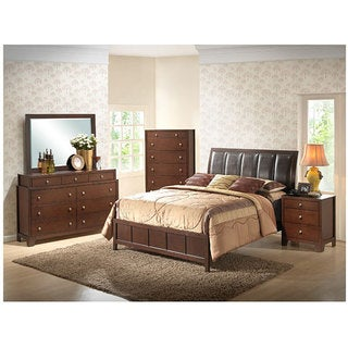 Butler 5-piece Queen-size Brown Modern Bedroom Set
