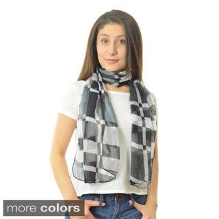 LA77 Women's Lightweight Plaid Scarf