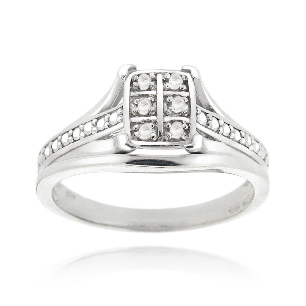 DB Designs Sterling Silver White Diamond Accent Ring - Thumbnail 0