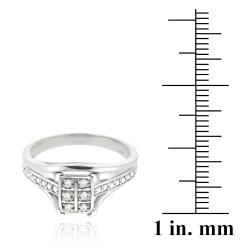DB Designs Sterling Silver White Diamond Accent Ring - Thumbnail 2