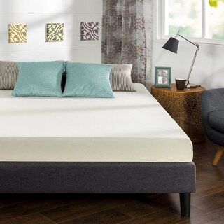 Priage Green Tea and Charcoal 6-inch Full-size Memory Foam Mattress