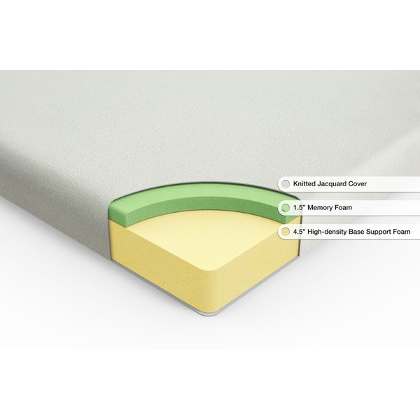 Zinus Ultima Comfort Memory Foam 6 Inch Mattress,Full
