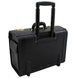 World Traveler Executive On-the-Go Leatherette Rolling Catalog Case