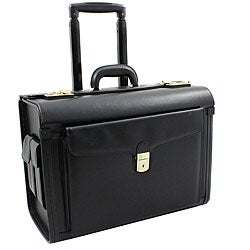 World Traveler Executive On-the-Go Leatherette Rolling Catalog Case