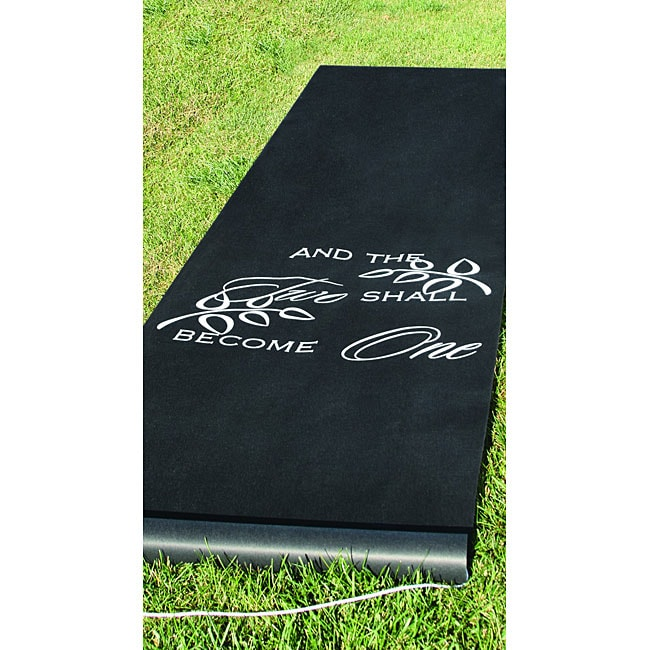 HBH Black 'Two Shall Become One' Aisle Runner