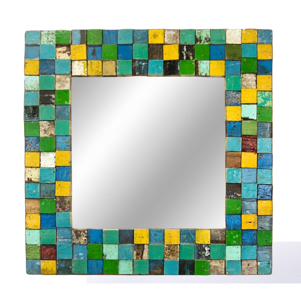 Ecologica 31-inch Square Mosaic Mirror