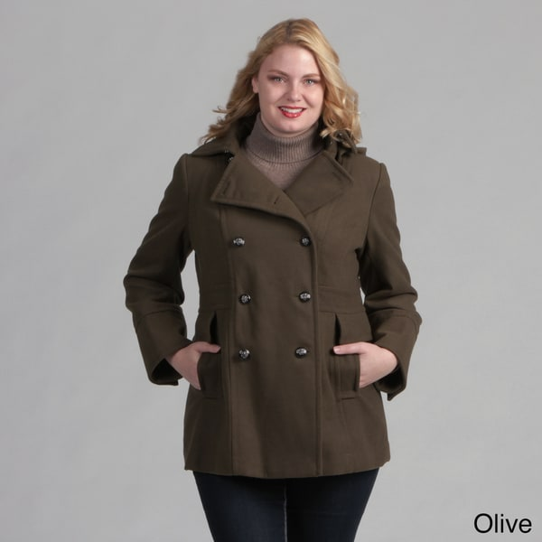 Jessica Simpson Women's Plus Size Peacoat - Free Shipping On ...