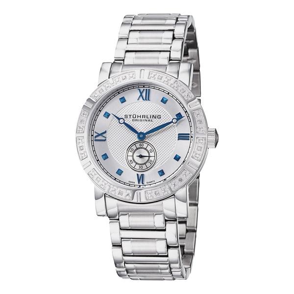 Stuhrling Original Men's Swiss Quartz Diamond Bracelet Watch