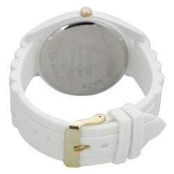 Geneva Platinum Women's Rhinestone Japanese Quartz Chronograph Silicone Watch