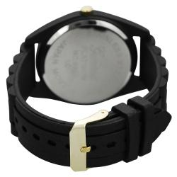 Geneva Platinum Women's Rhinestone Chronograph Silicone Watch - Thumbnail 1