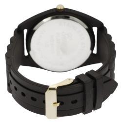 Geneva Platinum Women's Rhinestone Chronograph Quartz Silicone Watch - Thumbnail 1