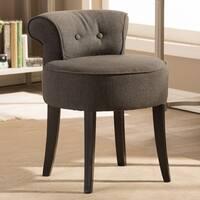 Millani Gray Linen Modern Lounge Stool