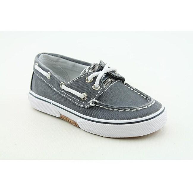 Sperry Top Sider Boys Halyard Medium-Width Blue/ Navy Blue Casual Shoes