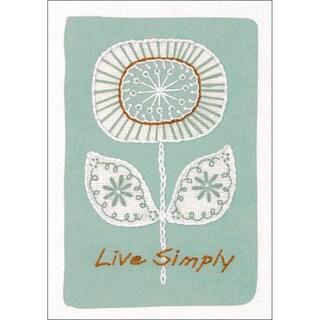 "Live Simply Mini Crewel Kit-5""X7"" Stitched In Thread & Yarn"