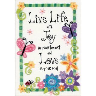 "Live Life Mini Crewel Kit-5""X7"" Stitched In Thread https://ak1.ostkcdn.com/images/products/6758839/P14300209.jpg?impolicy=medium"