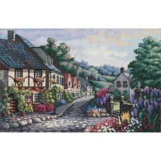 Thomas Kinkade Stepping Stone Cottage Counted Cross Stitch