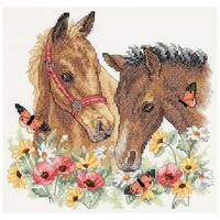 Horse Friends Stamped Cross Stitch Kit