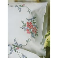 """Stamped Pillowcase Pair 20""""X30"""" For Embroidery-Wild Rose"""