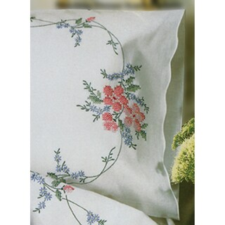 "Stamped Pillowcase Pair 20""X30"" For Embroidery-Wild Rose"