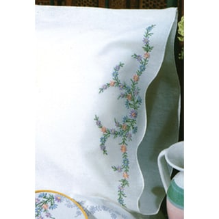 """Stamped Pillowcase Pair 20""""X30"""" For Embroidery-Reflections"""
