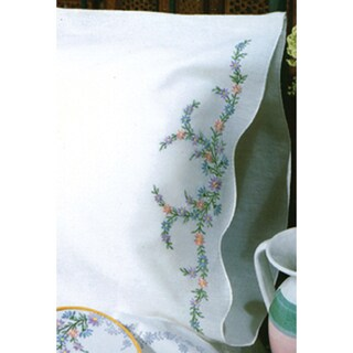 "Stamped Pillowcase Pair 20""X30"" For Embroidery-Reflections"