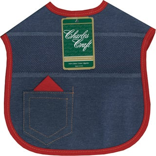 "Denim Darlings Baby Bibs 9""X9""-Red Binding"