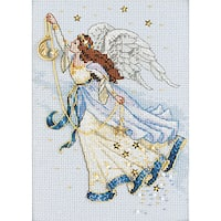 """Gold Collection Petite Twilight Angel Counted Cross Stitch K-5""""X7"""""""