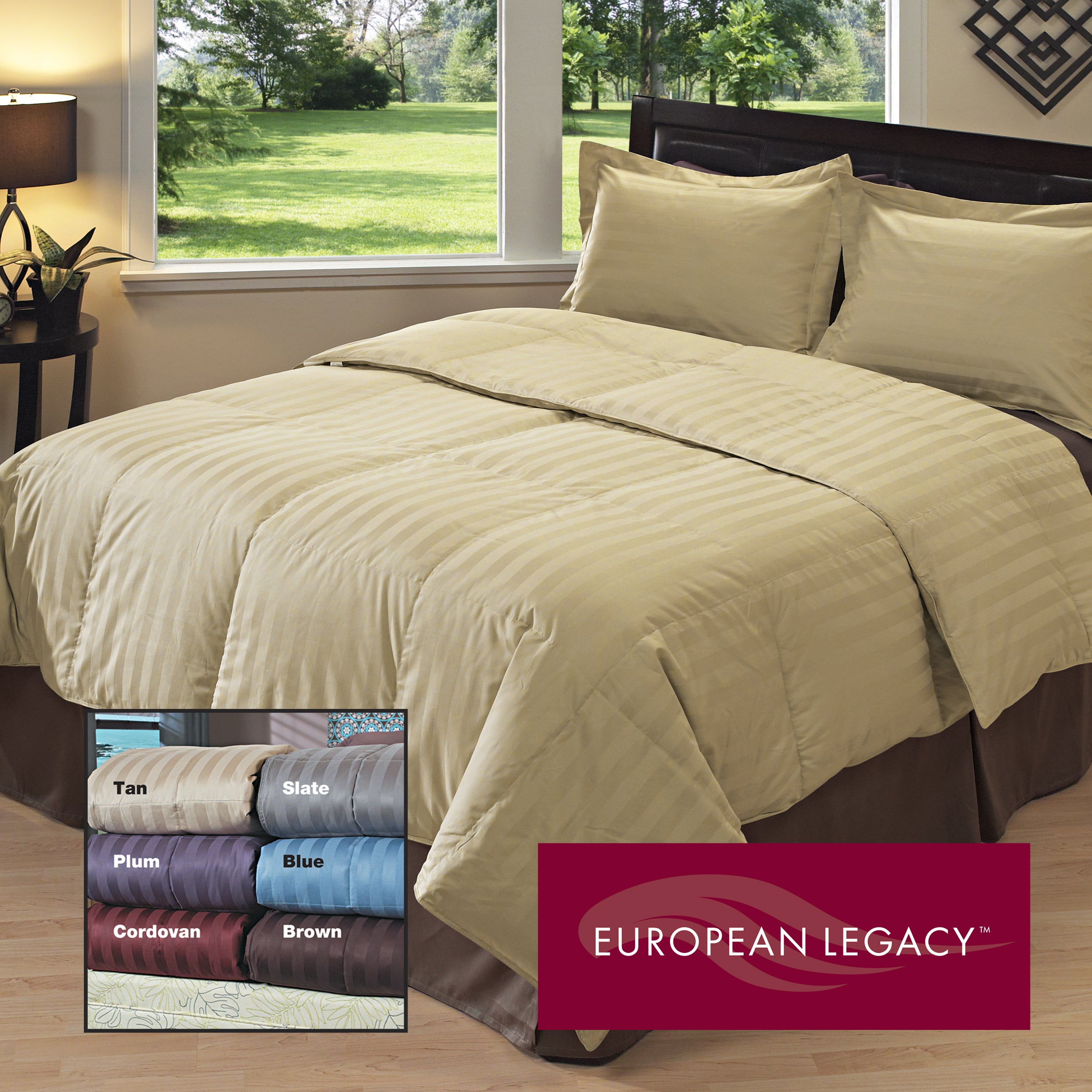 European Legacy Luxury Down-like Comforter/ Sham Set