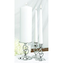 Hortense B. Hewitt Set of Three Sparkling Love Candle Stands