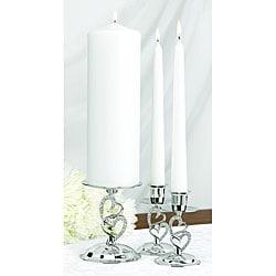 Hortense B. Hewitt Set of Three Sparkling Love Candle Stands
