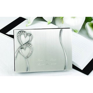 Hortense B. Hewitt Sparkling Love Brushed Silver-plated Guest Book